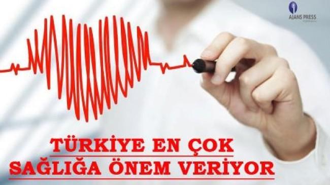 Türkiye en çok sağlığa önem veriyor