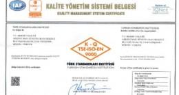 Mersin Valiliği,  'TS EN ISO 9001:2015  Kalite Yönetim  Sistemi Belgesi'  almaya hak  kazandı.