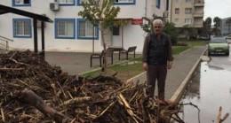 Fırtına ve taşkınlarla denize dolan odun parçaları ihtiyaç sahiplerini ısıtacak