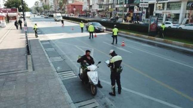2 günde bin 523 motosiklet ve  motorlu bisiklet denetlendi