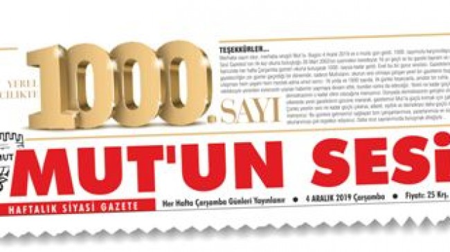 YEREL GAZETECİLİKTE 1000. SAYI
