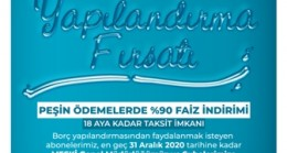 MESKİ'DEN SU BORÇLARINA YAPILANDIRMA