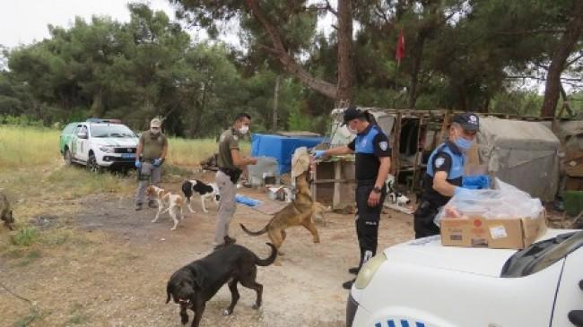 Polisler sokak hayvanlarını unutmadı