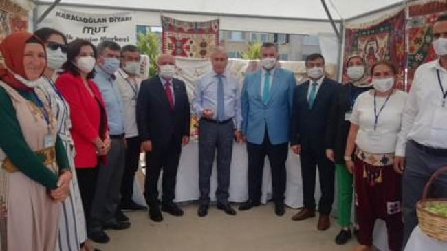Mut Halk Eğitim Merkezi Stantlarına Mersin'de Büyük İlgi
