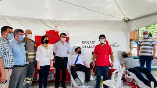 Kan Bağışı Kampanyasına Büyük Destek